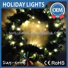 Christmas Wreath With Colour Led Lights