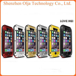 Popular Metal LOVE MEI Aluminum Waterproof Case For iPhone 6 iPhone6, For IPhone 5 Metal Case Waterproof