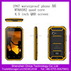 buy cheap waterproof cell phone A6 4.5 inch MTK6582 quad core IP67 rugged phone 5.0Mp cameras gps 3G waterproof shockproof phone