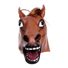 Halloween Costume High quality Rubber Horse Head Animals Mask
