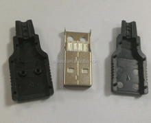 Electronic connectors USB 2.0 AM with cover
