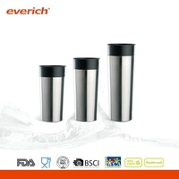 2014 new style double wall stainless steel vacuum insulated travel coffee mug with side button lid