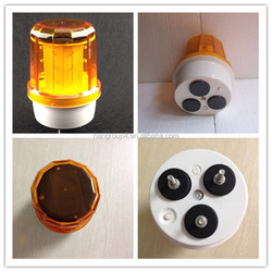solar warning revolving emergency vehicle lights and sirens(with magnetic base)