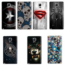 3D OEM Customized Embossed Painted Printing Replacement cover Case for Note 3 Note 4 Rear Back Battery Housing