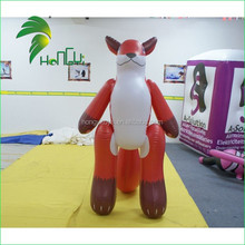 Giant Inflatable Red Fox Cartoon For Advertising