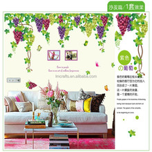 New Design Extra Large Grape Wall Sticker Romantic Tv/bedroom/living room Art Wall Decal Kids Room AY219
