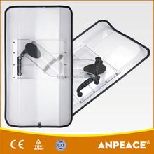 Edge-folded Rectangular PC Anti Riot Shield For Sale DP-A06