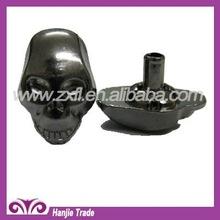 Decorative Gun Metal Skull Rivet Prong Studs for Leather