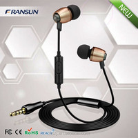 High quality metal earphone,mobile phone earphone,earphone with mic