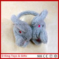 Stuffed Plush Animal Earmuffs Stuffed Plush Elephant Earmuff