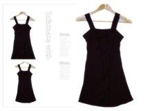 girl's brown sleeveless flower dress