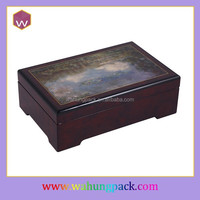 Rectangle wooden musical jewelers & wood piano music box