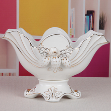 Fashion white ceramic fruit bowl with strawberry for wedding gifts ceramic bowl