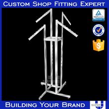 Retail metal 4 ways free standing display rack