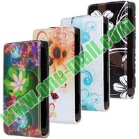 Yellow Flowers Pattern Vertical flip leather case cover for nokia lumia 520