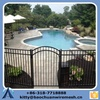 powder coated steel child safety swimming pool fence/steel flat top swimming pool fencing