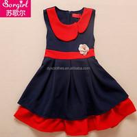 summer european style fashion girl dress kidswear