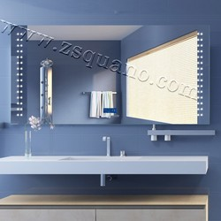 European Style Hotel Lighted Mirror with Clock
