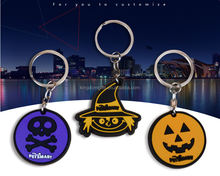 Hot sell the halloween theme soft PVC keychain