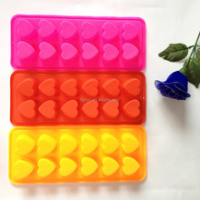 12-cavities DIY Heart & Love Shape Ice/Cake/Chocolate/Sugar Decorating Silicone Mini Cube Craft Fondant Mold Tray mould