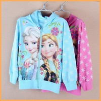 2015 autumn full / long sleeve girl frozen t-shirts