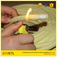 Kevlar aramid rope kevlar cord coated ptfe