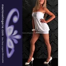 Ml17735 mode blanc Backless paillettes Sexy Short Mini Spandex robes nouvelle mode 2013