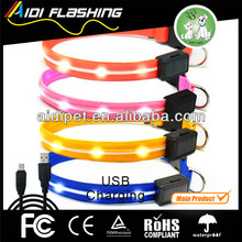 Innovative Products For Import Cat Collar GPS Solar Nylon Custom Glowing LED Dog Collar