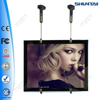 Super slim backlit led poster double sided picture frame