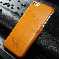 R64 Leather card holder cover case for iphone 6 plus,high quality pu case for iphone 6 plus