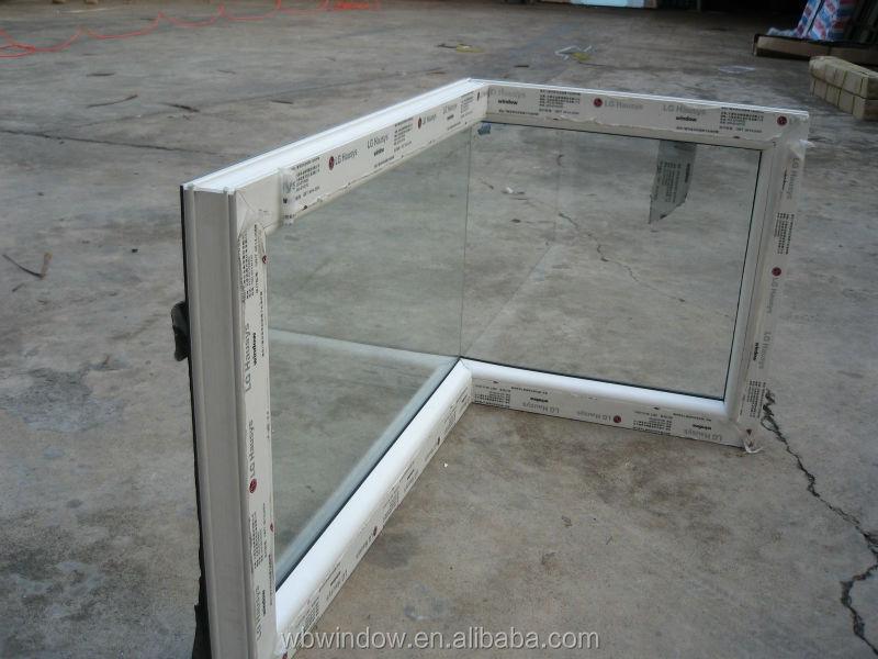 Fashion Pvc Butt Joint Glass Corner Window Design Pvc