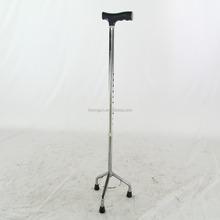 New small base walking three legged cane with swan handle