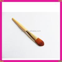 nylon hair wood handle aluminum collar masking brush for girl