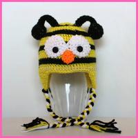Cute handmade cartoon animal character baby crochet hat