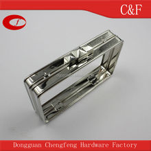Fashion nickel box clutch frame, metal purse frame with special kiss clasp