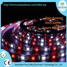 300leds 5050 RGBW led strip DC12V-24V by RGBW led strip light PCB Black