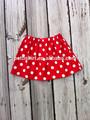 estilo casual polka dot rojo los niños falda para las niñas