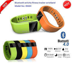 """0.49"""" OLED Smart Watch Wristband Fitness Activity Tracker with Touch Screen, G Sensor, Sleep Monitor, selfie Model No. BW64"""