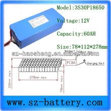 Solar engine lithium battery pack 12v 60Ah