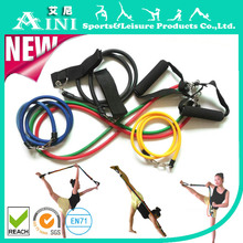 11pcs Latex Resistance Tubes Bands, GYM Exercise Tube Set for Yoga ABS Workout Fitness
