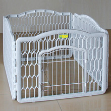 Hot Sale Dog Puppy Play Pen White Plastic Outdoor Portable Dog Fence