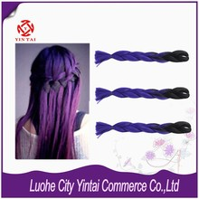 ALI EXPRESS WHOLESALE SYNTHETIC JUMBO BRAIDING HAIR OMBRE COLOR EXTENSION 100G/PC