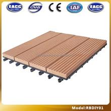 wood plastic composite tile/waterproof interlocking flooring/plastic interlocking tiles