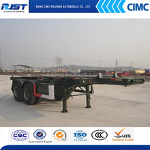CIMC two axle skeletal semi trailer