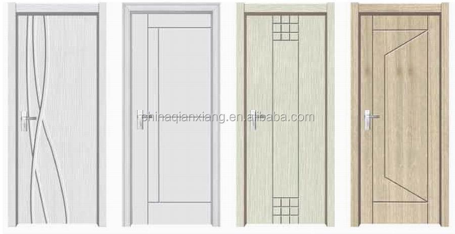 Int rieur moderne design main pvc porte en bois pour for Portes interieures modernes en bois