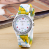 2015 Geneva Crystal Stone Silicone Watches Quartz Ladies/Women/Girls/Unisex/Kids/Students Jelly Wrist Watch Candy Colors Relojs