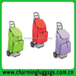 Wholesale trolley shopping bag with 2 wheels