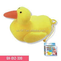 Sex toy Lover's Duck waterproof bath sponge with vibrator vibrating massager