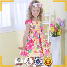 beautiful model sleeveless print girl dress flower girls boutique clothing customize label