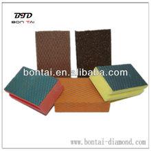 Diamond backing sponge pad for hand polisher